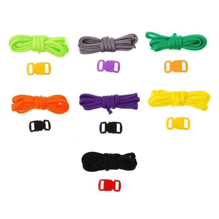 Набор плетения из тесьмы + 2 крепления, длина 1 шт. — 1,2 метра, цвета однотонный МИКС