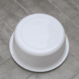 Таз круглый 8 л, цвет белый - фото 4637276