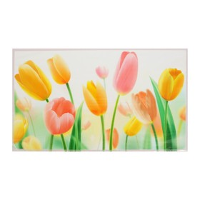 "Sticker decorative tile ""Colorful tulips"""