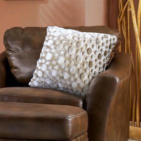 Наволочка декоративная, размер 48 × 48 см, пузырьки бежевый
