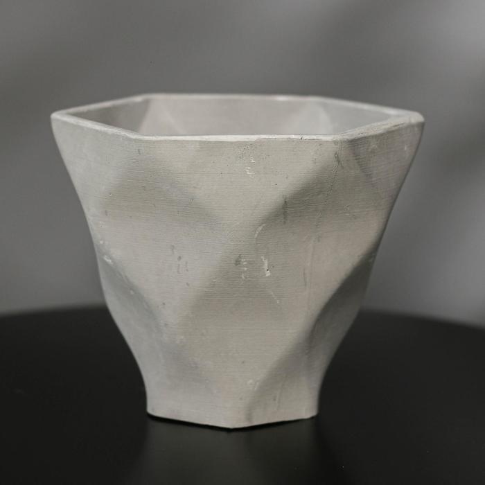 Кашпо-ромб «Фантазия», цвет серый, 15 × 14 см