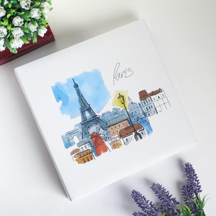 """Фотоальбом на 200 фото 10х15 см """"Париж"""" МИКС 22,5х22х5 см - фото 846939"""