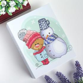 "Фотоальбом на 100 фото 10х15 см ""Мишка и снеговик"" 17,8х14х5 см"
