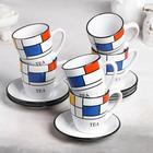 Чайный сервиз «Мозайка», 12 предметов, чашка 6 шт. 190 мл, блюдце 6 шт. - фото 451022