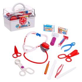 Набор доктора «Маленький врач» в чемодане, 13 предметов, цвета МИКС