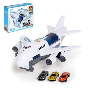 Парковка «Самолет», инерция, с машинками, световые и звуковые эффекты