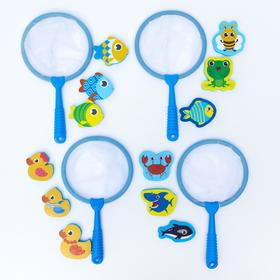 A set of bath toys + net, MIX