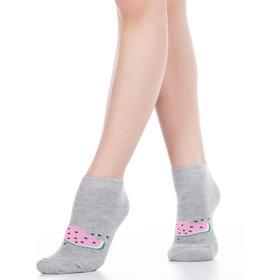 Носки детские, (2 пары) цвет серый/розовый (light grey melange/pearl), размер 21-23