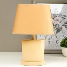 Лампа настольная 03000 1хЕ14 15Вт бежевый 20х28,5х11 см