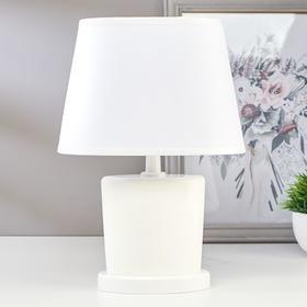 Лампа настольная 03000 1хЕ14 15Вт белый 20х28,5х11 см