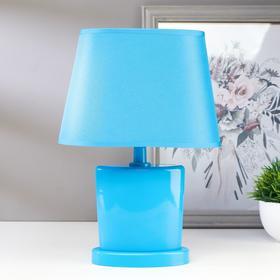 Лампа настольная 03000 1хЕ14 15Вт голубой 20х28,5х11 см
