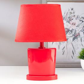 Лампа настольная 03000 1хЕ14 15Вт красный 20х28,5х11 см