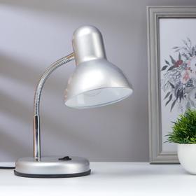 Лампа настольная на подставке 1х60Вт Е27 серебро