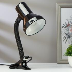 Лампа настольная на прищепке 1х60Вт Е27 шнур 1,3м черный