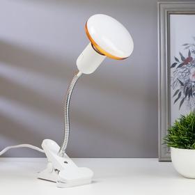 Лампа настольная светодиодная на прищепке 1х12Вт Е27 LED 100Лм шнур 1.1м штанга 17см белый