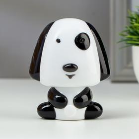 Ночник светодиодный Собака 4х0,25Вт LED черный