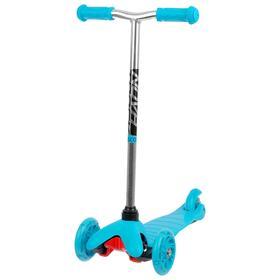 Самокат-кикборд детский Novatrack Disco-kids Start, световые колёса 120 х 24 / 76 х 24 мм, цвет голубой