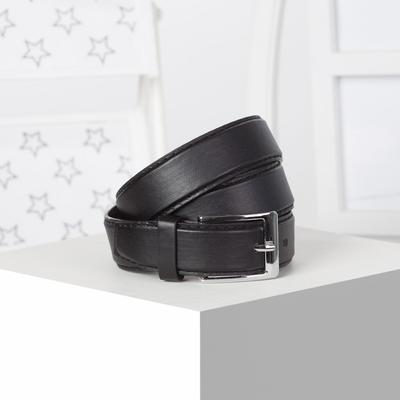 Strap 03-01-02-01 2,0*0,3*100 screw, smooth, matte, metal buckle, black