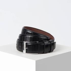 Ремень, ширина 2 см, винт, пряжка металл, цвет чёрный