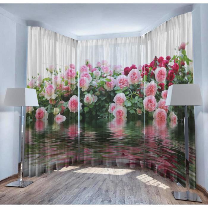 Комплект тюлей из трёх полотен «Колдовской аромат», 147х267 см- 3 шт - фото 789325