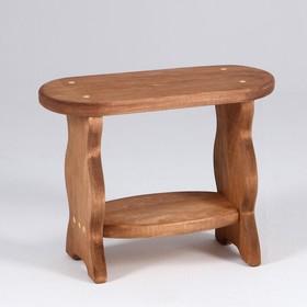 Скамейка 'Фигурная' лакированная, 42×17×30см Ош