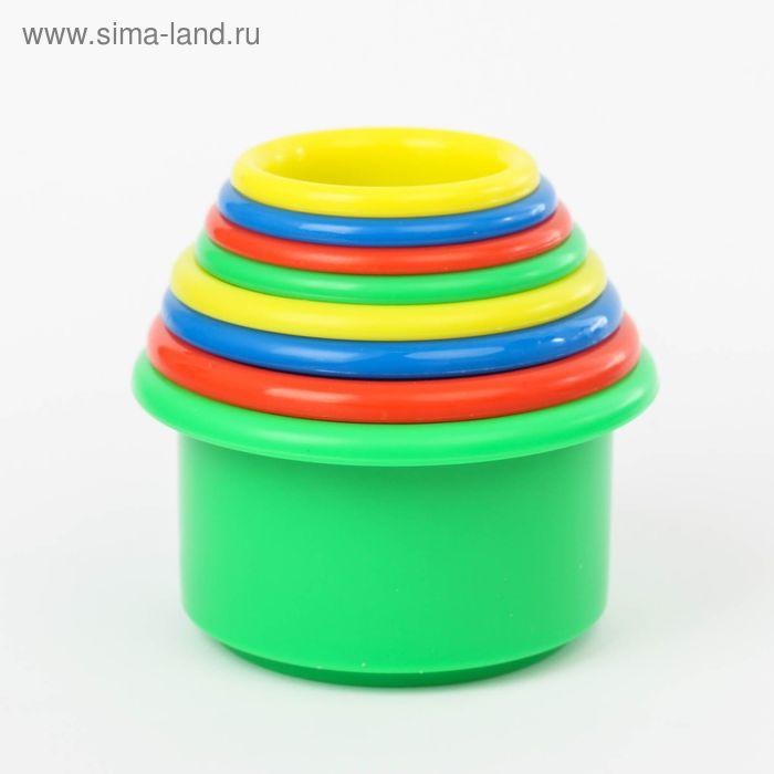 "Игрушка-пирамидка ""Веселая радуга"", цвета МИКС"