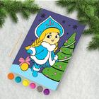 """Painting by numbers """"the snow maiden"""" 21х15 cm"""
