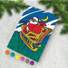 """Painting by numbers """"Santa Claus with sleigh"""" 21х15 cm"""