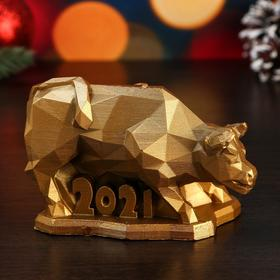 """Candle decorative """"symbol of the year 2021 Big bull"""""""