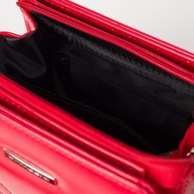 Сумка женская, отдел на молнии, наружный карман, длинный ремень, цвет красный - фото 53066