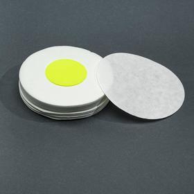 Фильтры d 125 мм, жёлтая лента, марка ФОБ,  очень быстрой фильтрации, 100 шт