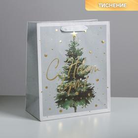 Пакет крафтовый вертикальный «Сказочная ёлочка», ML 23 × 27 × 11.5 см