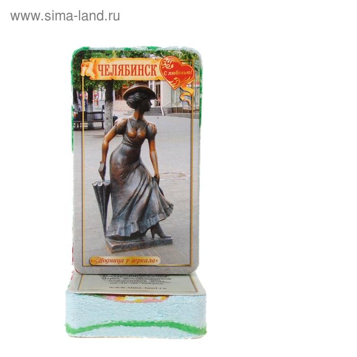 """Полотенце прямоугольное прессованное """"Челябинск"""" (изображение только на этикетке), 28 х 60 см"""