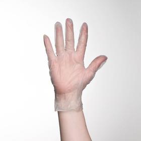 Перчатки хозяйственные виниловые, размер L, 100 шт/уп, цена за 1 шт Ош