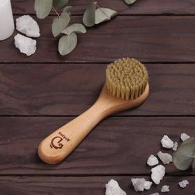Щётка для лица, деревянная, натуральная щетина Ош