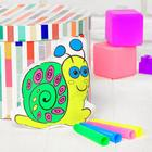 """Toy-coloring """"Snail"""" (without the markers) in the package"""
