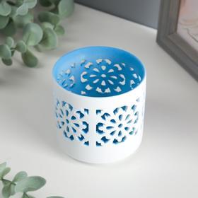 """Подсвечник керамика на 1 свечу """"Цветы ажур"""" МИКС 7х7х7 см"""