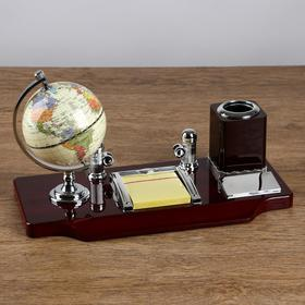 5 in 1 table set (pencil, globe, Notepad, business card, logo)
