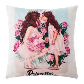 """Чехол на подушку Этель """"Princesses"""", 40*40 см,100% п/э"""