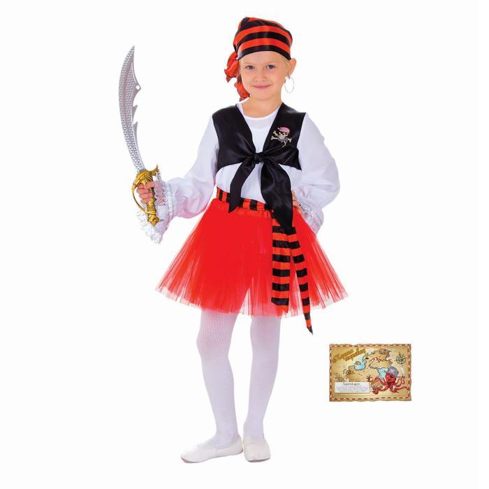 Карнавальный костюм «Пиратка», р. 28, рост 104 см