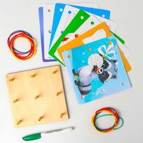 Геоборд + карточки «Пиши-стирай», Весёлые зверята