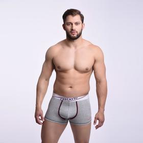 Трусы мужские боксеры, цвет серый, размер 46 (M)