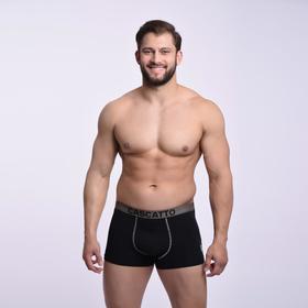 Трусы мужские боксеры, цвет чёрный, размер 46 (M)