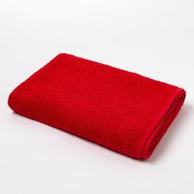Полотенце махровое «Экономь и Я», 70х130 см, цвет красный