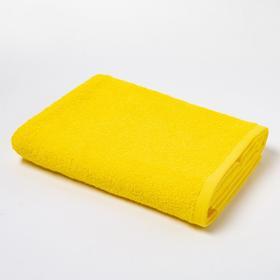Полотенце махровое «Экономь и Я», 70х130 см, цвет солнечный жёлтый