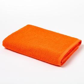 Полотенце махровое «Экономь и Я», 70х130 см, цвет ярко-оранжевый