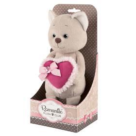 """Мягкая игрушка """"Романтичный Котик"""" с розовым сердечком, 20 см MT-GU022020-1-20"""