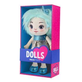 Мягкая игрушка «Кукла Карина» в сине-серебряном платье, 35 см