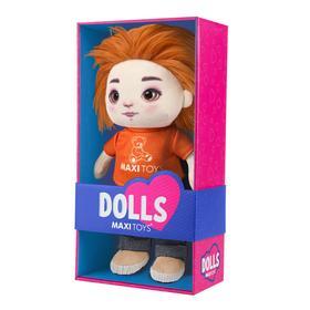 Мягкая игрушка «Кукла Бориска» в футболке и джинсах, 35 см