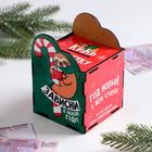 "Piggy Bank wooden Christmas ""Stick in the new year"""